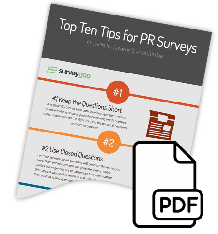 Download PR Survey Tips